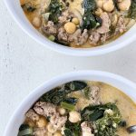 30 Minute Kale and Italian Sausage Soup