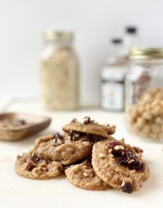 Zero Waste Cinnamon Apple Chickpea Cookies