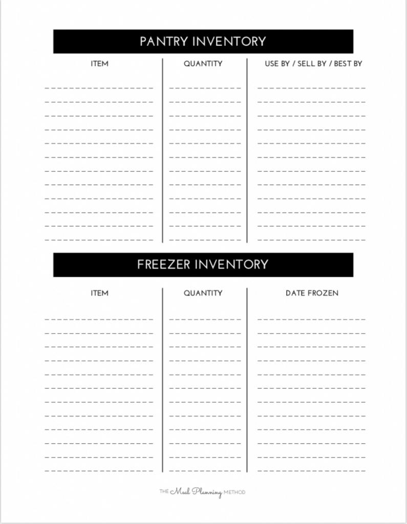 free pantry inventory printable