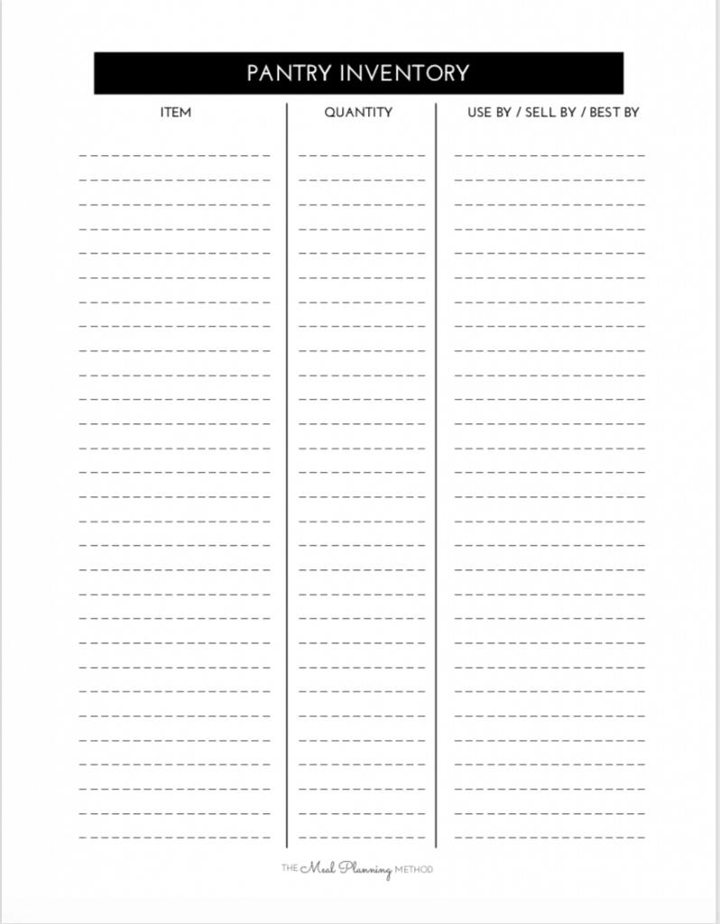 free pantry challenge inventory printable