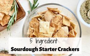 sourdough discard crackers with Herbes de provence