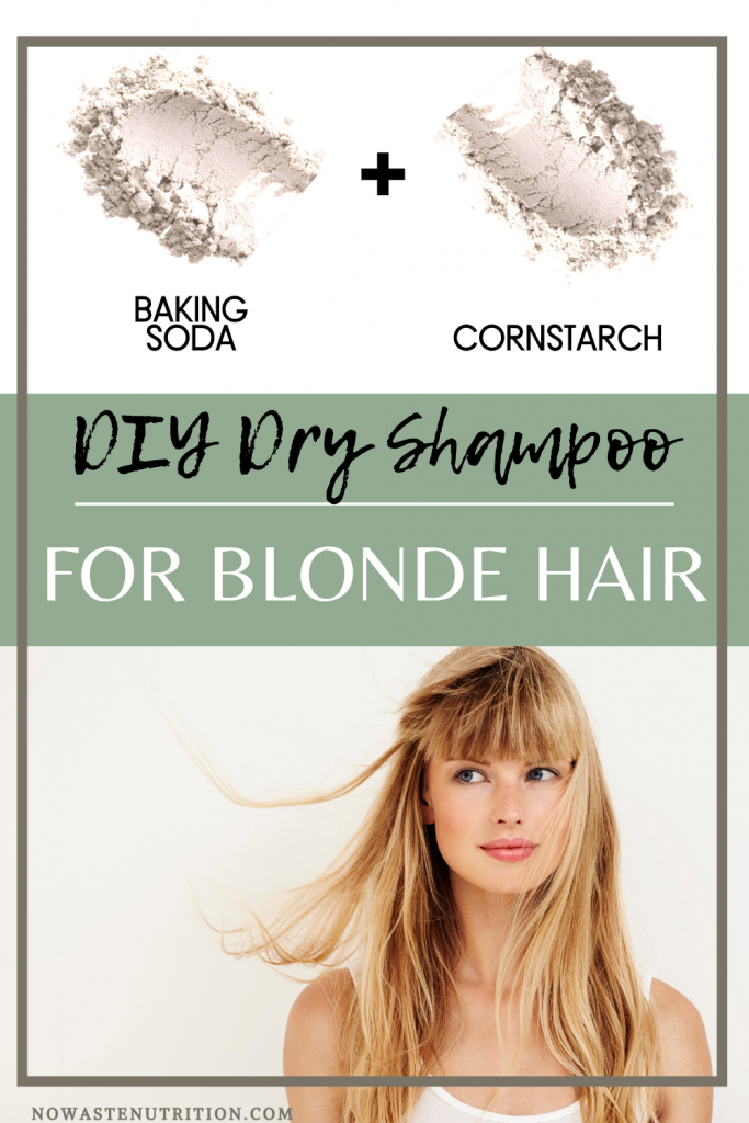 baking soda  dry shampoo for blonde hair