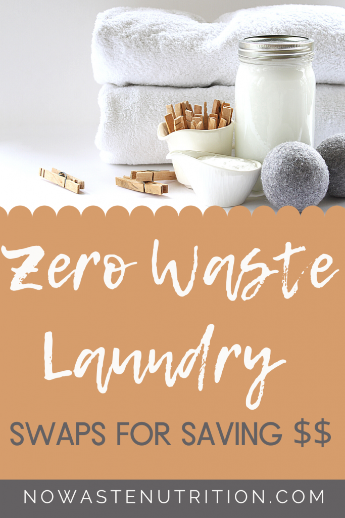 how to create less waste when doing laundry