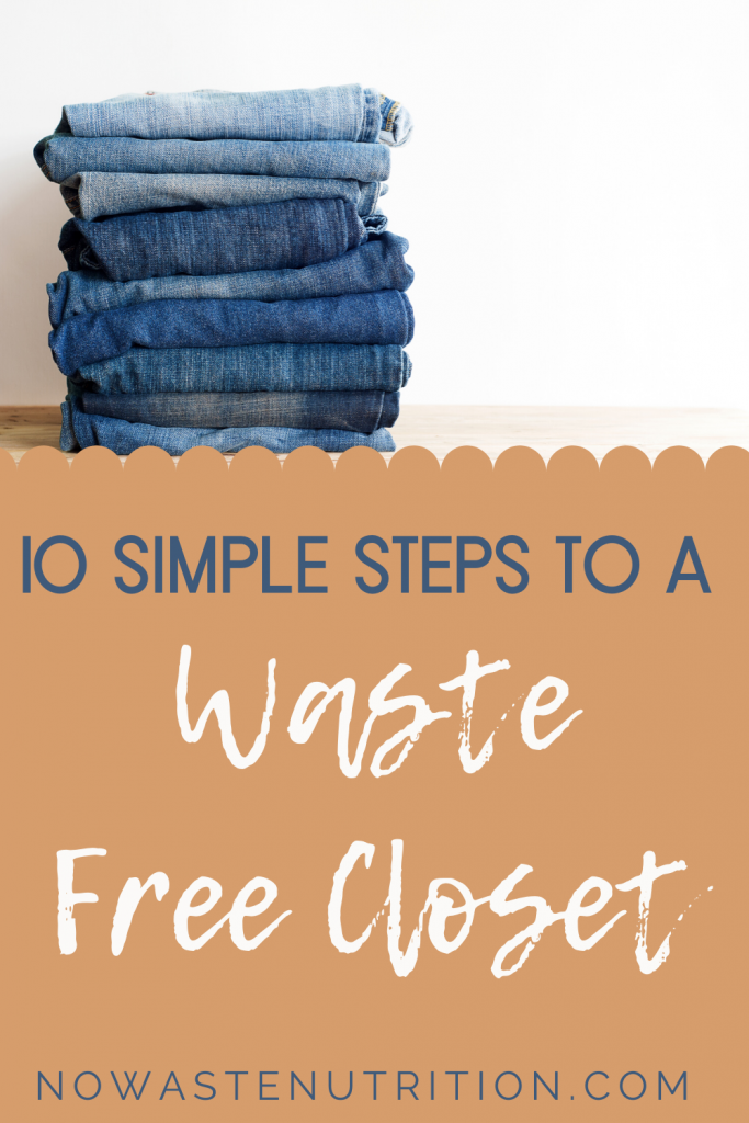 how to reduce waste for the closet