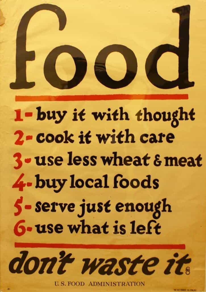 most famous food waste quote from original world war 1 to help combat waste